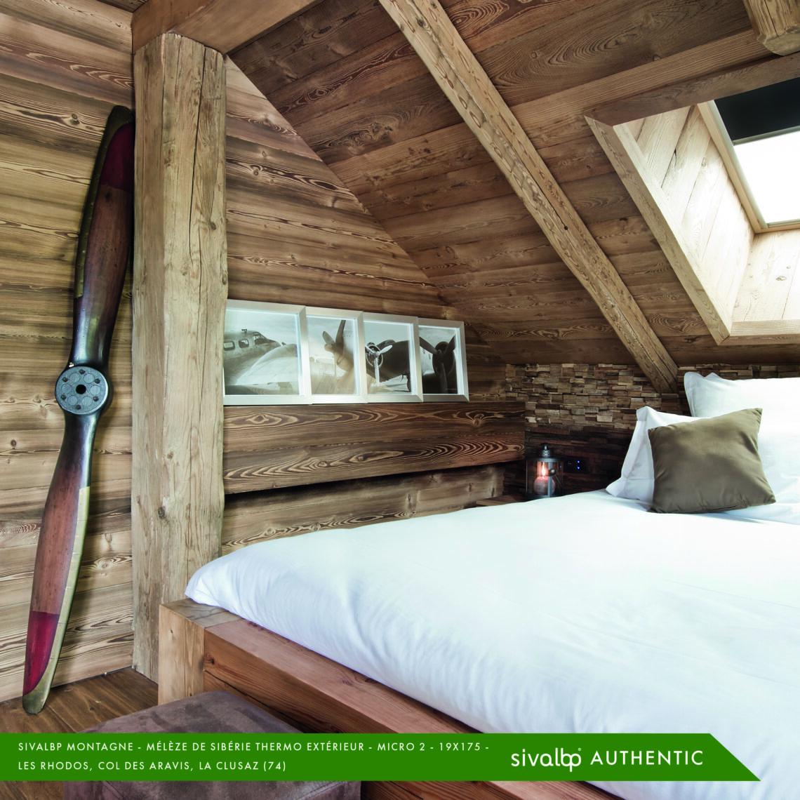 Lambris bois chaleureux en Mélèze de Sibérie
