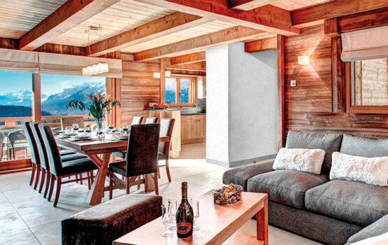 Lambris en mélèze de Sibérie EcoThermo  Hôtel **** Le Nova – Manigod (74)