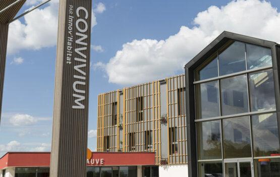 Bardage bois sur-mesure sur bâtiment collectif « CONVIVIUM » – (Moselle – 57)