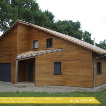 Maison bardage bois en Western Red Cedar