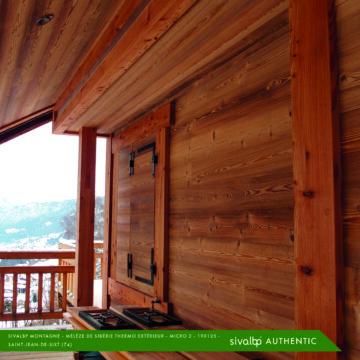 Bardage bois Mélèze de Sibérie Haute Savoie